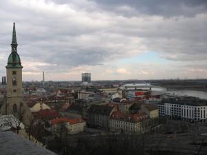 pohľad na Bratislavu z hradu