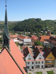 Bazilika sv. Egídia pohľad z veže