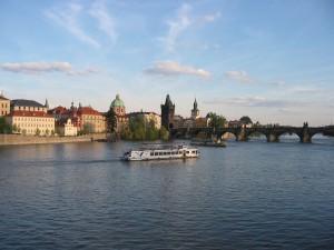 pohľad na Karlov most